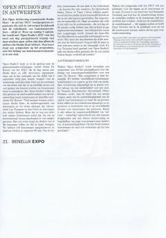 Artikel in Hart magazine - Open Studio's 2012 in Antwerpen